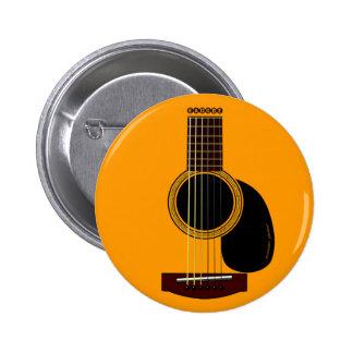botón de la guitarra acústica pin redondo de 2 pulgadas