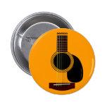 botón de la guitarra acústica pins