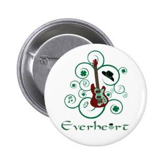 Botón de la guitarra de Everheart Pin Redondo De 2 Pulgadas