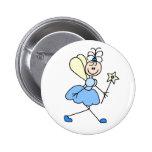 Botón de la hada del ángel azul pin