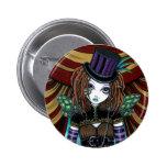 Botón de la hada del circo de Steampunk del Victor Pins
