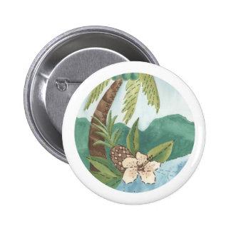 Botón de la hawaiana pin redondo de 2 pulgadas