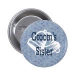 Botón de la hermana de los novios pin