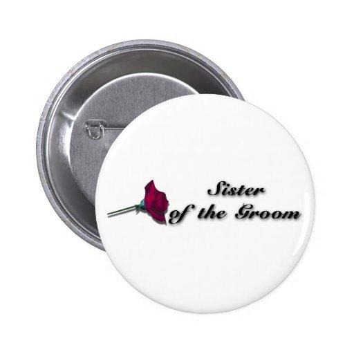 Botón de la hermana de los novios pins