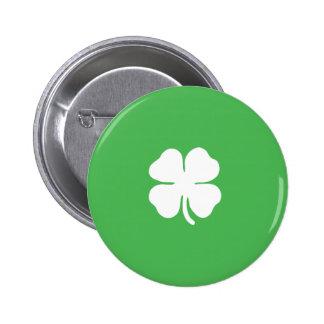 Botón de la hoja del trébol pin
