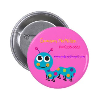 Botón de la identificación de Caterpillar Pin Redondo De 2 Pulgadas