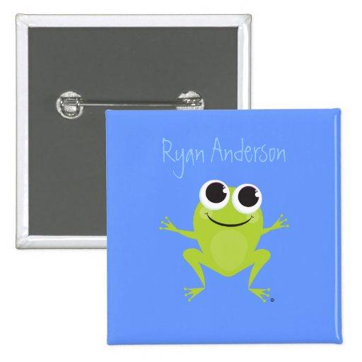 Botón de la identificación de la rana