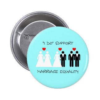Botón de la igualdad de la boda de la ayuda - redo pin redondo de 2 pulgadas