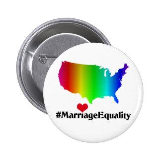 Botón de la igualdad del matrimonio homosexual de pin redondo de 2 pulgadas