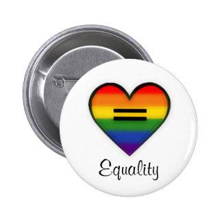 Botón de la igualdad pin redondo de 2 pulgadas