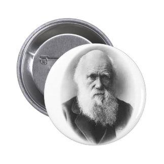 Botón de la ilustración de Darwin Pin Redondo De 2 Pulgadas