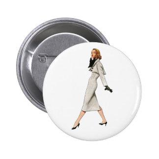Botón de la imagen de la moda del vintage