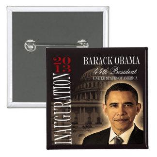 Botón de la inauguración 2013 de Obama Pin Cuadrado