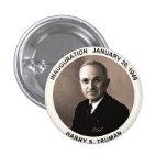 Botón de la inauguración de Harry S. Truman Pin Redondo De 1 Pulgada