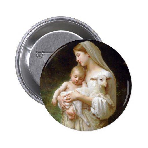 Botón de la inocencia de Bouguereau Pins