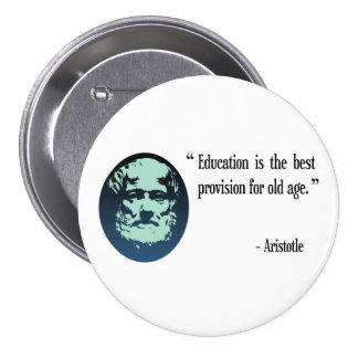 Botón de la insignia de Aristóteles de la educació Pin