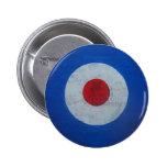 Botón de la insignia de la blanco de la MOD Pins