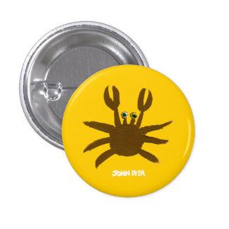 Botón de la insignia del arte: Cangrejo loco de la Pins