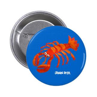 Botón de la insignia del arte: Langosta de Cornual Pin