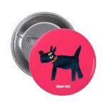 Botón de la insignia del arte: Perro de Scotty el Pin Redondo De 2 Pulgadas