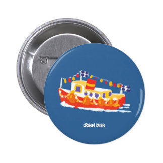 Botón de la insignia del arte: Transbordador el Pin Redondo De 2 Pulgadas