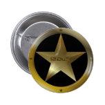 Botón de la insignia del sheriff pin