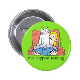 Botón de la instrucción de la ayuda de los gatos pin redondo de 2 pulgadas
