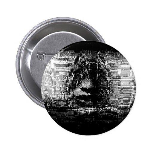 Botón de la interferencia 0012 pin redondo de 2 pulgadas