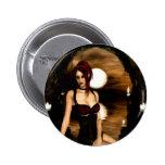 Botón de la invitación de Scarlett gótico de los c Pin