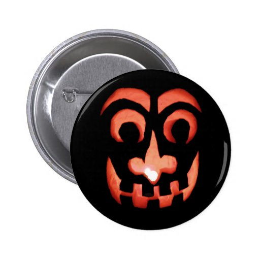 Botón de la Jack-O-Linterna de Halloween Pins
