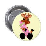 Botón de la jirafa del bebé pin