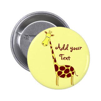 Botón de la jirafa pins