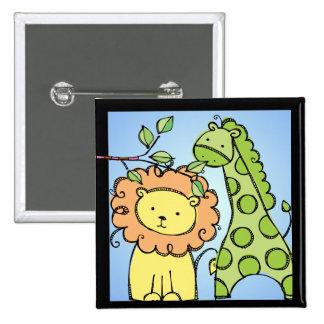 Botón de la jirafa y del león