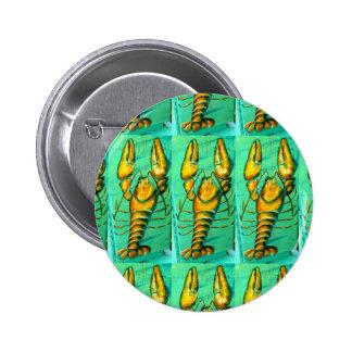 botón de la langosta de Maine Pin Redondo De 2 Pulgadas