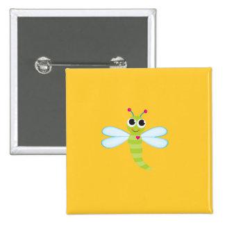 Botón de la libélula - amarillo