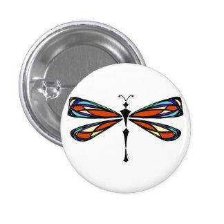 Botón de la libélula del vitral pin