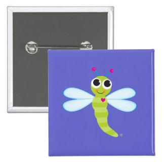 Botón de la libélula - púrpura azul