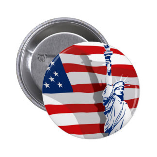 Botón de la libertad pin redondo de 2 pulgadas