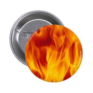 Botón de la llama pin redondo de 2 pulgadas