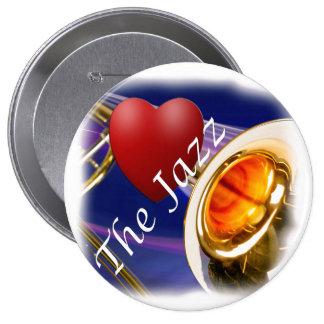 Botón de la llave del amor del músico del Trombone Pin Redondo De 4 Pulgadas