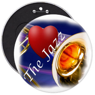 Botón de la llave del amor del músico del Trombone Pin Redondo De 6 Pulgadas