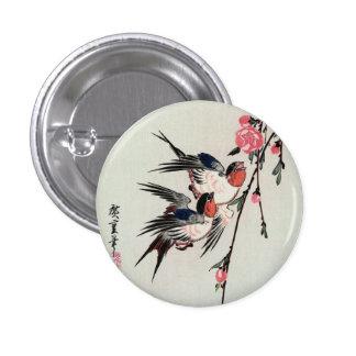Botón de la luna, de los tragos y de los flores de pin redondo de 1 pulgada