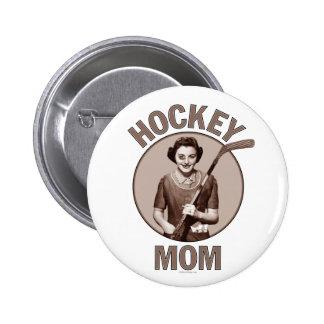Botón de la luz de la mamá del hockey pin