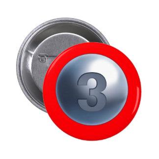 Botón de la madre 3 de la ayuda pin redondo de 2 pulgadas