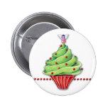 Botón de la magdalena del árbol de navidad pins