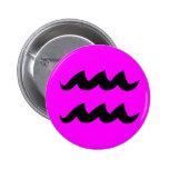 Botón de la magenta del acuario pin
