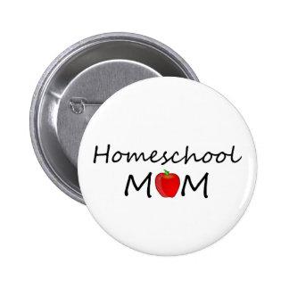 Botón de la mamá de Homeschool Pin Redondo De 2 Pulgadas
