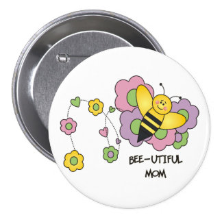 Botón de la mamá de la Abeja-utiful Pins