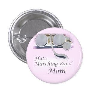 Botón de la mamá de la banda de la flauta pin redondo de 1 pulgada