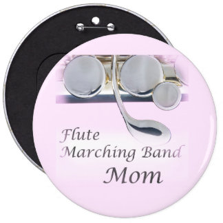Botón de la mamá de la banda de la flauta pin redondo de 6 pulgadas